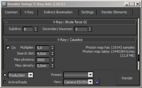 VRay Brute force