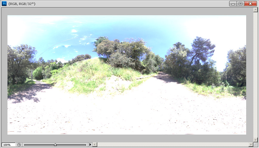 Preview a overexposed HDR in photoshop